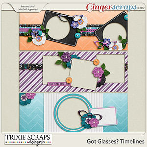 Got Glasses? Timelines by Trixie Scraps Designs