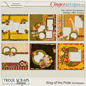 King of the Pride Quickpages by Trixie Scraps Designs