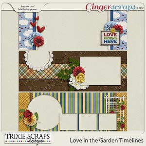 Love in the Garden Timelines by Trixie Scraps Designs