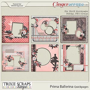 Prima Ballerina Quickpages by Trixie Scraps Designs