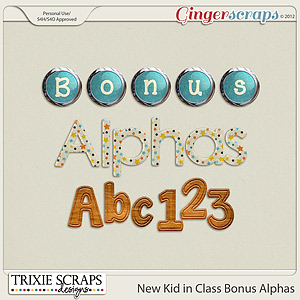 New Kid in Class Bonus Alphas by Trixie Scraps Designs