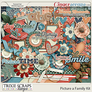 Picture a Family Kit by Trixie Scraps Designs