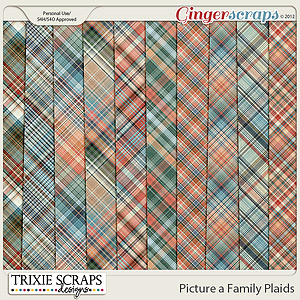 Picture a Family Plaids by Trixie Scraps Designs