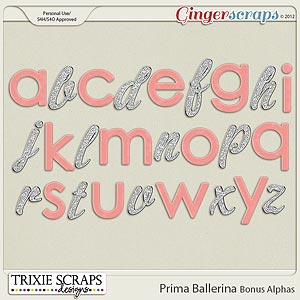 Prima Ballerina Bonus Alphas by Trixie Scraps Designs