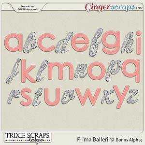 Prima Ballerina Bonus Alphas by Trixie Scraps Designs