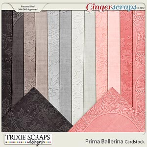Prima Ballerina Cardstock by Trixie Scraps Designs 