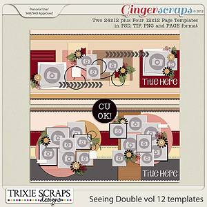 Seeing Double volume 12 Template Pack by Trixie Scraps Designs