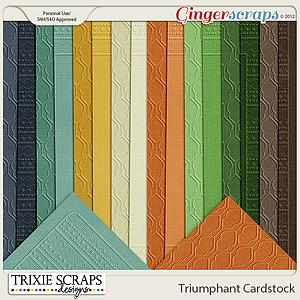 Triumphant Cardstock by Trixie Scraps Designs