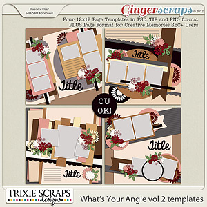 What's Your Angle vol 2 Template Pack by Trixie Scraps Designs