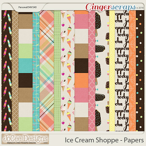 Ice Cream Shoppe Patterned Papers