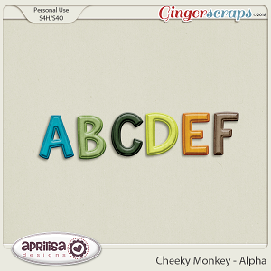 Cheeky Monkey - Alpha by Aprilisa Designs