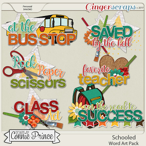 Schooled - WordArt Pack