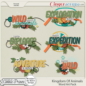Kingdom Of Animals - Word Art