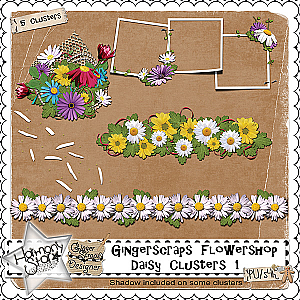 GingerScraps Flowershop - Daisy Clusters 1
