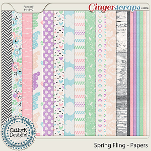 Spring Fling Papers: by CathyK Designs