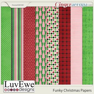 Funky Christmas Papers