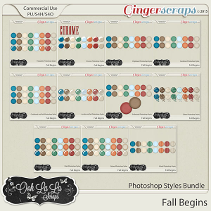 Fall Begins CU Photoshop Styles Bundle