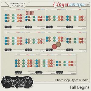 Fall Begins CU Photoshop Styles Bundle