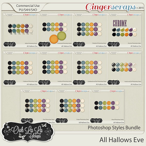 All Hallows Eve CU Photoshop Styles Bundle