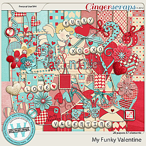 My Funky Valentine by Kathy Winters Designs