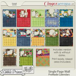 2016  PreMade Wall Calendars