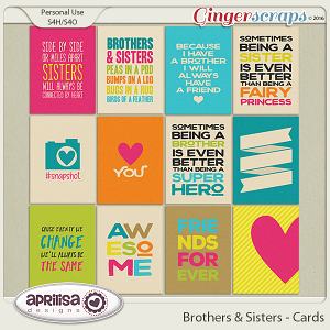 Brothers & Sisters - Cards by Aprilisa Designs