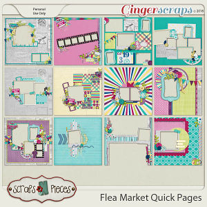 Flea Market Quick Pages by Scraps N Pieces