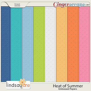 Heat of Summer Embossed Papers by Lindsay Jane