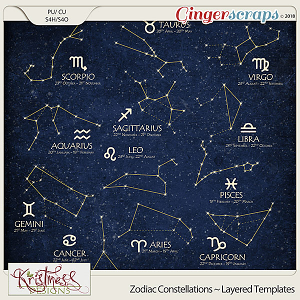 CU Zodiac Constellations Layered Template