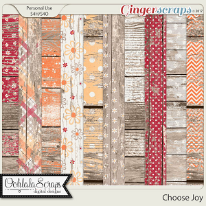 Choose Joy Worn Wood Papers