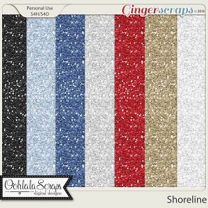 Shoreline 12x12 Glitter Papers
