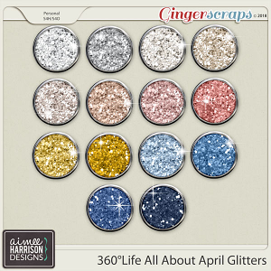 360°Life All About April Glitters by Aimee Harrison