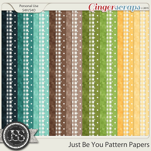 Just Be You Pattern Papers