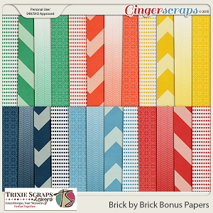 Brick by Brick Bonus Papers by Trixie Scraps Designs