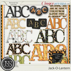 Jack O Lantern Alphabets