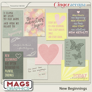 New Beginnings JOURNAL CARDS by MagsGraphics
