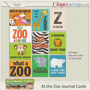 At the Zoo Journal Cards by Clever Monkey Graphics