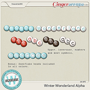 Winter Wonderland Bead Alpha by Kathy Winters Designs