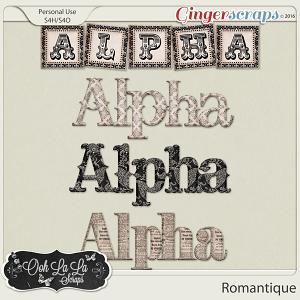 Romantique Alphabets