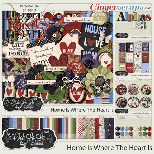 Home Is Where The Heart Is Digital Scrapbooking Collection