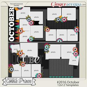 #2016 October - 12x12 Template Pack (CU Ok)