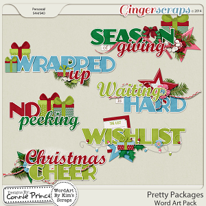 Pretty Packages - Word Art