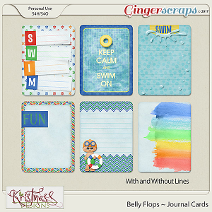 Belly Flops Journal Cards