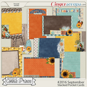 #2016 September - Stacked Pocket Cards