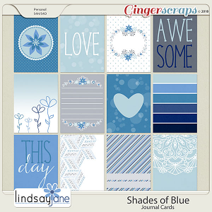Shades of Blue Journal Cards by Lindsay Jane