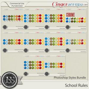 School Rules Photoshop Styles Bundle