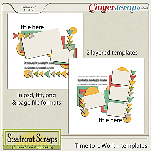 Time to Work Templates by Seatrout Scraps