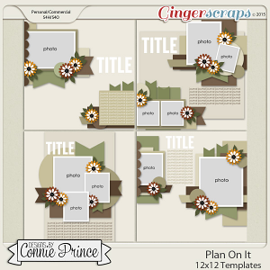 Plan On It - 12x12 Templates (CU Ok)