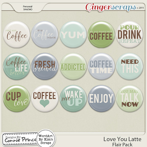 Love You Latte - Flair Pack