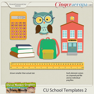 CU School Templates 2 by Clever Monkey Graphics